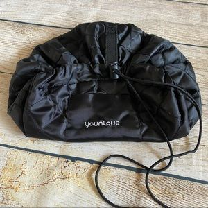 Younique Black Quilted Drawstring Makeup Bag